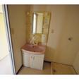 シャワー付き洗面台と室内洗濯機置き場
