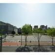眺望。東南に市役所、南側に噴水と中央公園が一望できます