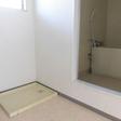 室内洗濯機置き場(つくば市天久保 賃貸アパート 独立洗面台 南向き)