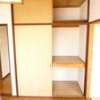 4.5帖のお部屋にも収納があります