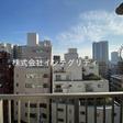 バルコニーから東京ドームが一望できる南向き。