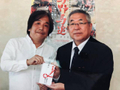 2019/05/08 南相馬市市長へ義援金を寄付(福島民報社・福島民友社取材)